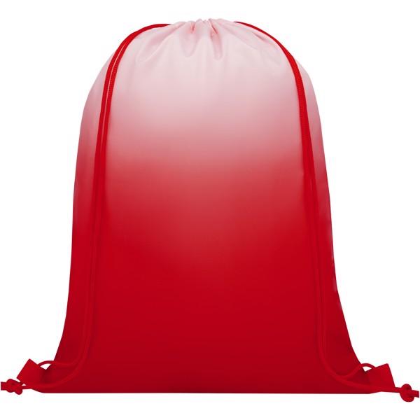 Oriole šňůrkový batoh s barevným přechodem - Červená s efektem námrazy