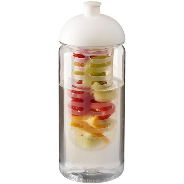 Láhev s infuzérem a kupolovitým víčkem Octave Tritan™ 600 ml - Průhledná / Bílá