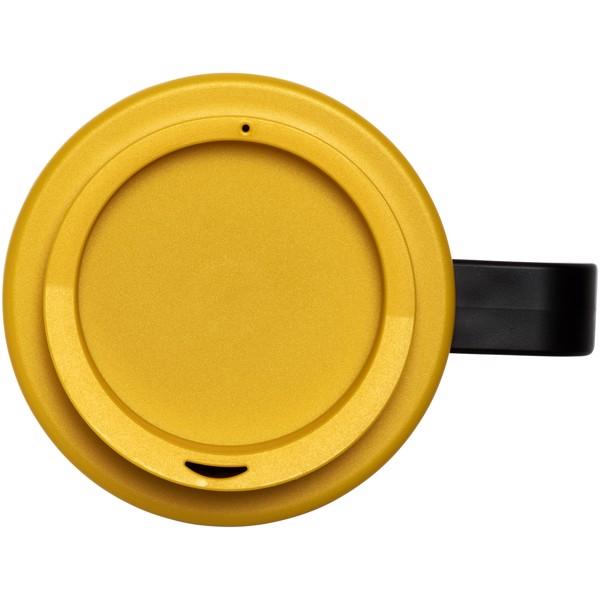 Brite-Americano® Vaso térmico grande de 350 ml - Negro intenso / Amarillo
