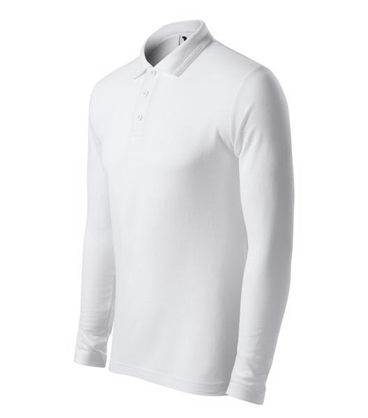 Polokošile pánská Malfini Pique Polo LS - Bílá / 3XL