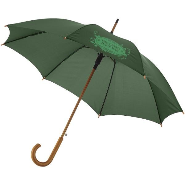 """23"""" deštník Kyle s automatickým otvíráním a dřevěnou tyčí a rukojetí - Lesní zelená"""