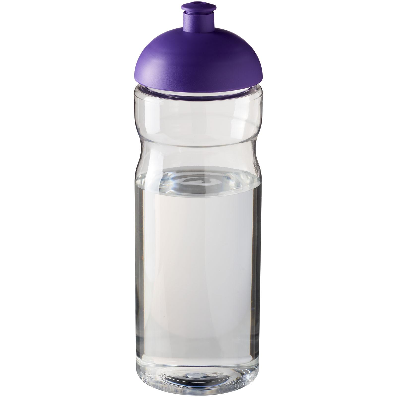 Sportovní láhev s kupolovitým víčkem H2O Base® 650 ml - Průhledná / Purpurová