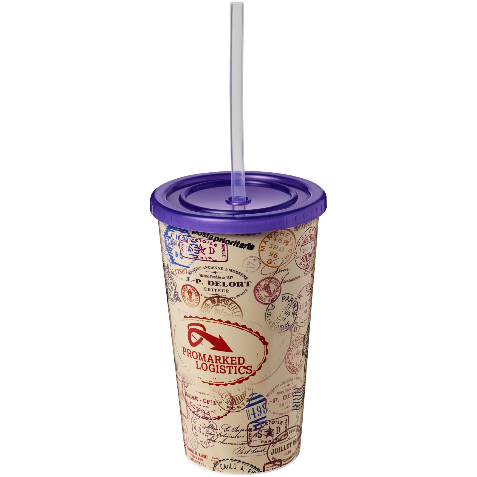 Brite-Americano® 350 ml double-walled stadium cup - Purple