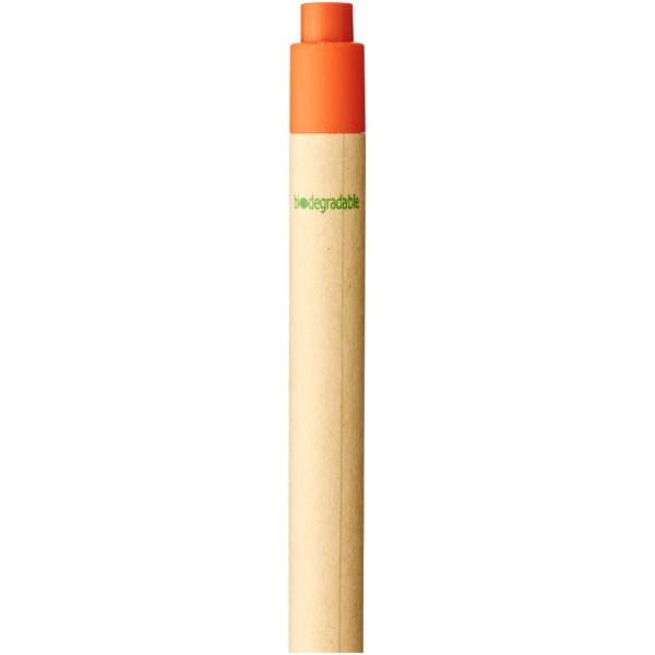 Berk recycled carton and corn plastic ballpoint pen - Orange