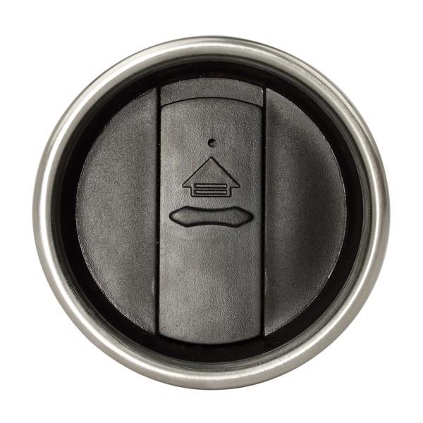 Contour ivópohár - Fekete / Ezüst Színű