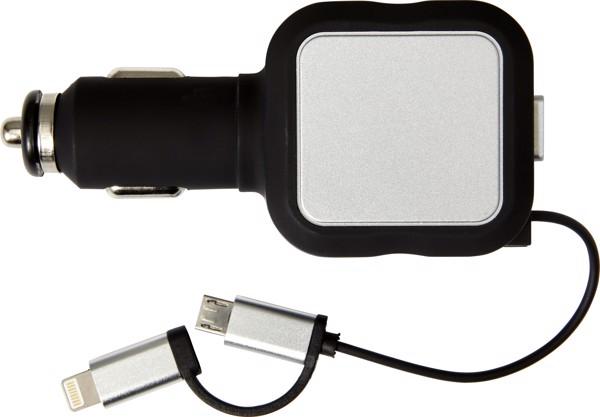 USB-KFZ-Ladestecker 'Square' aus Kunststoff