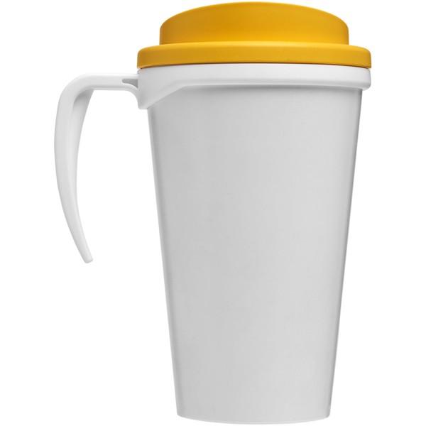 Brite-Americano® Vaso térmico grande de 350 ml - Blanco / Amarillo