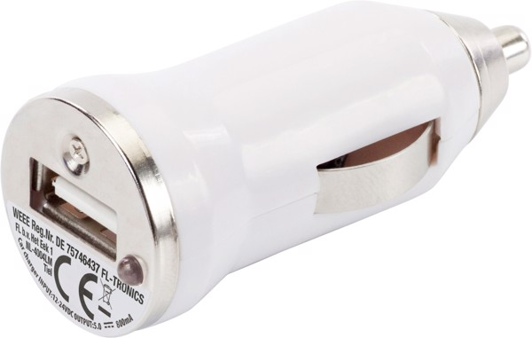 ABS car power adapter - White