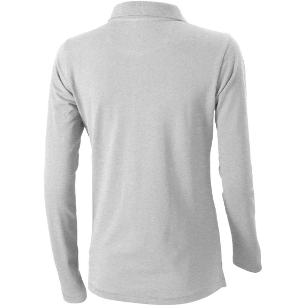Oakville long sleeve women's polo - Grey melange / XS