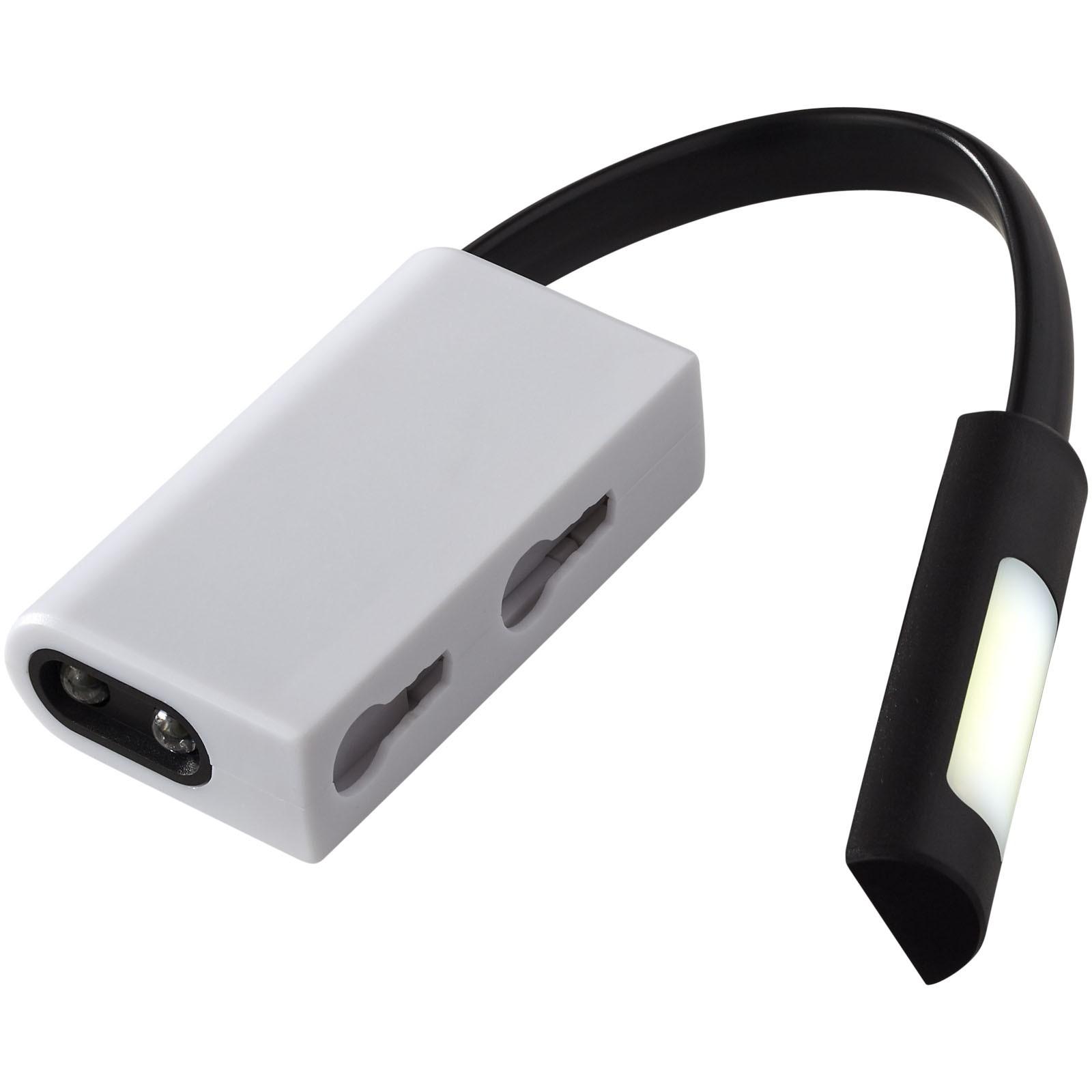 COB a LED svítilna Libra - Černá / Bílá