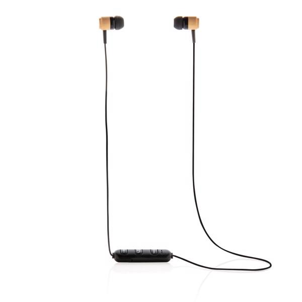 Bambusová bezdrátová sluchátka do uší
