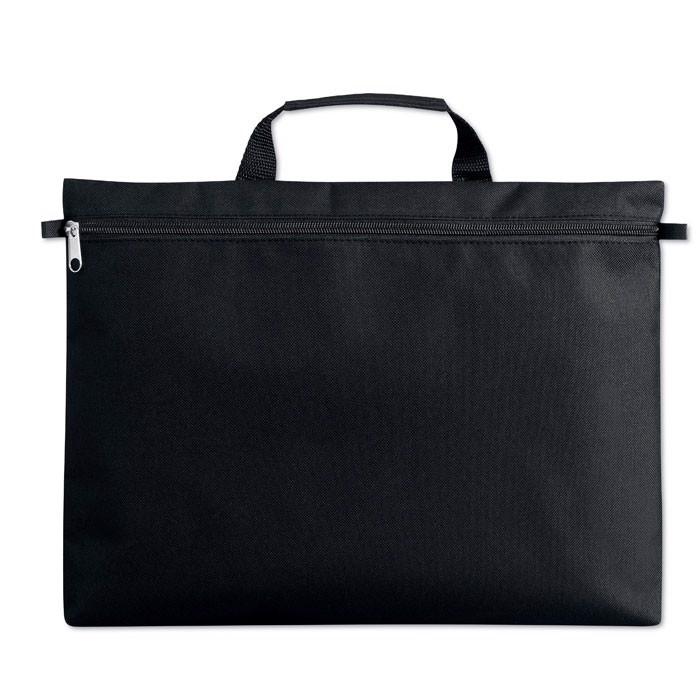 600D polyester document bag Amanta - Black