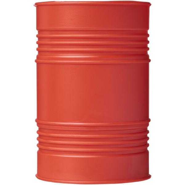 Bardo oil drum style plastic pen pot - Red