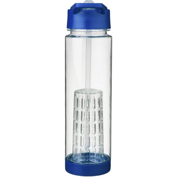 Tutti-frutti 740 ml Tritan™ infuser sport bottle - Transparent / Blue