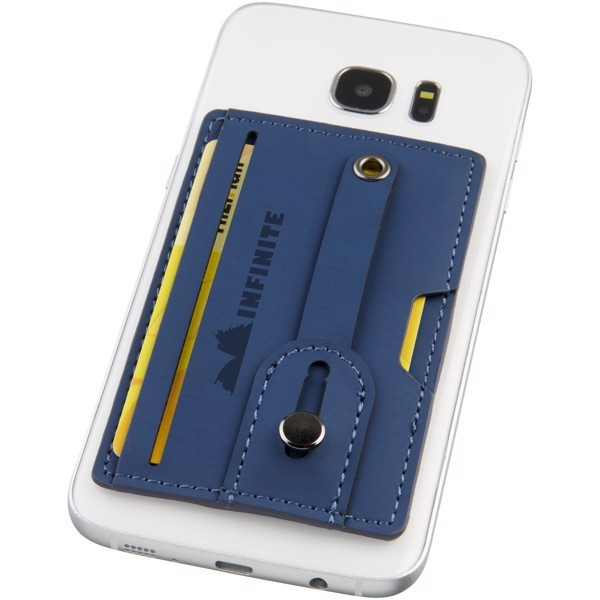 Prime RFID phone wallet with strap - Navy