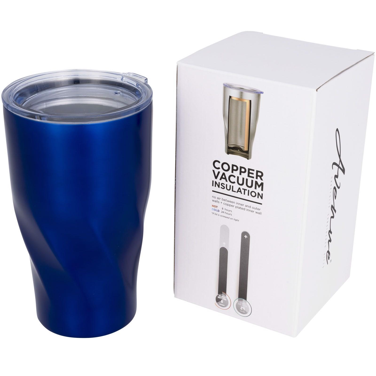 Měděný vakuový izolační pohárek Hugo - Modrá