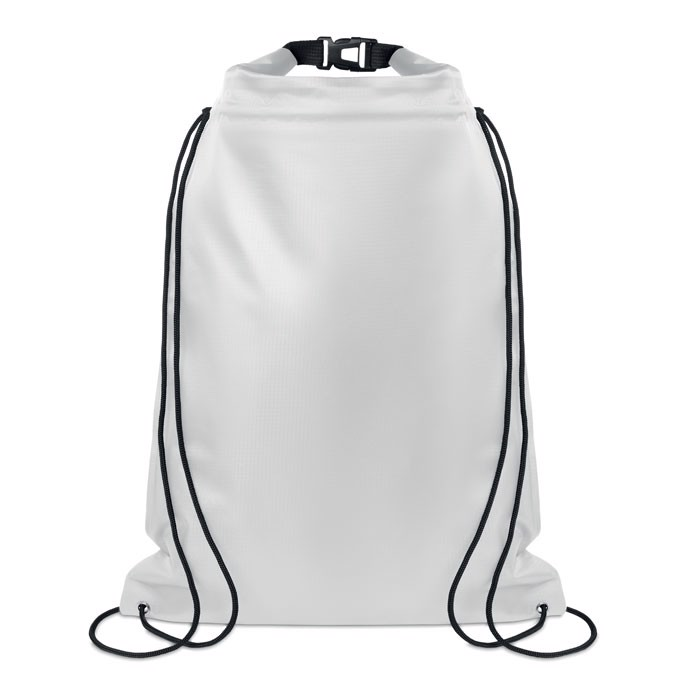 Large waterproof drawstring Debo Bag - Transparent White