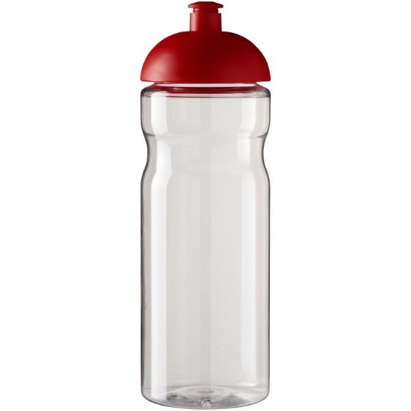 Sportovní láhev s kupolovitým víčkem H2O Base® 650 ml - Průhledná / Červená s efektem námrazy