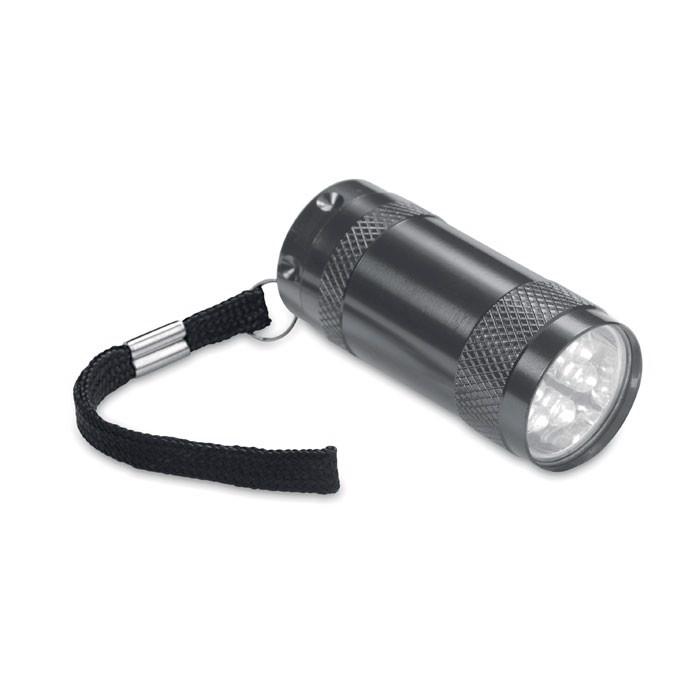 Aluminium torch & wrist strap Texas - Titanium
