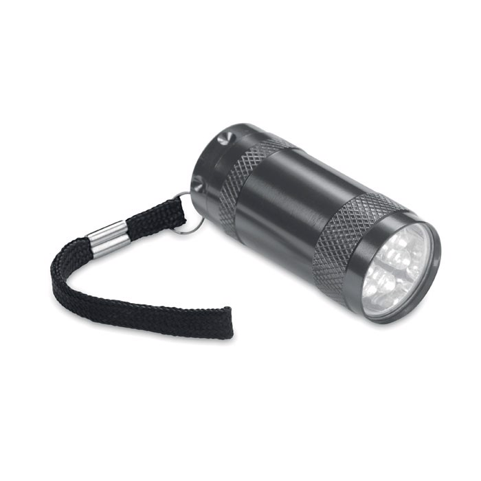 Aluminiowa mini latarka Texas - tytanowy