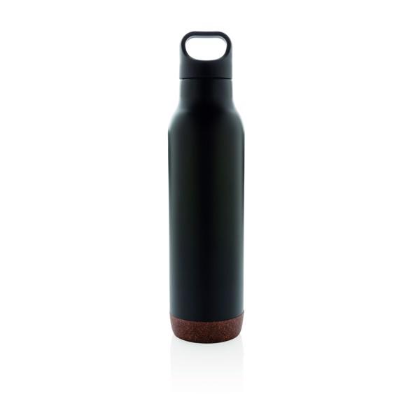 Nepropustná korková termo láhev - Černá