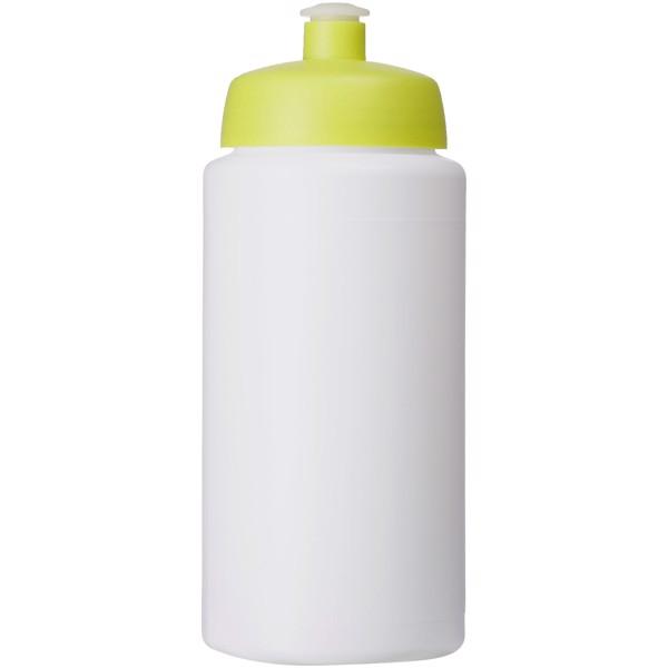 Baseline® Plus grip 500 ml sportovní lahev s víčkem na sport - Bílá / Limetka