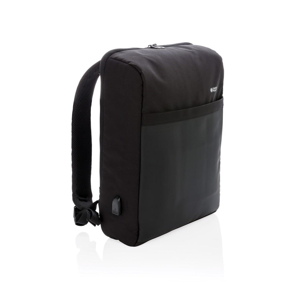"""Swiss Peak 15""""-es RFID lopásgátló & USB, PVC-mentes hátizs"""