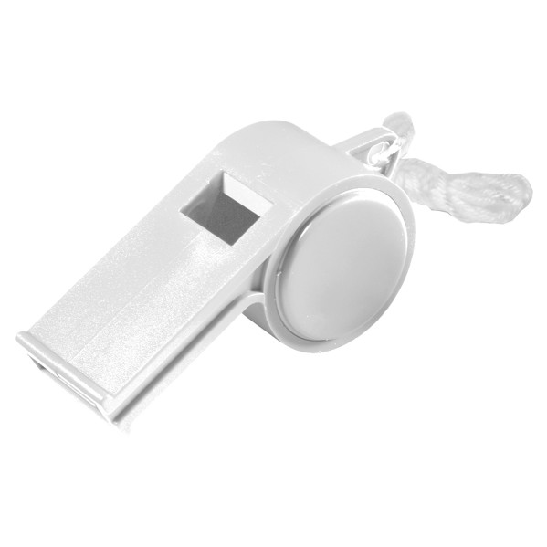 """Whistle """"Sport"""" With Cord - White"""