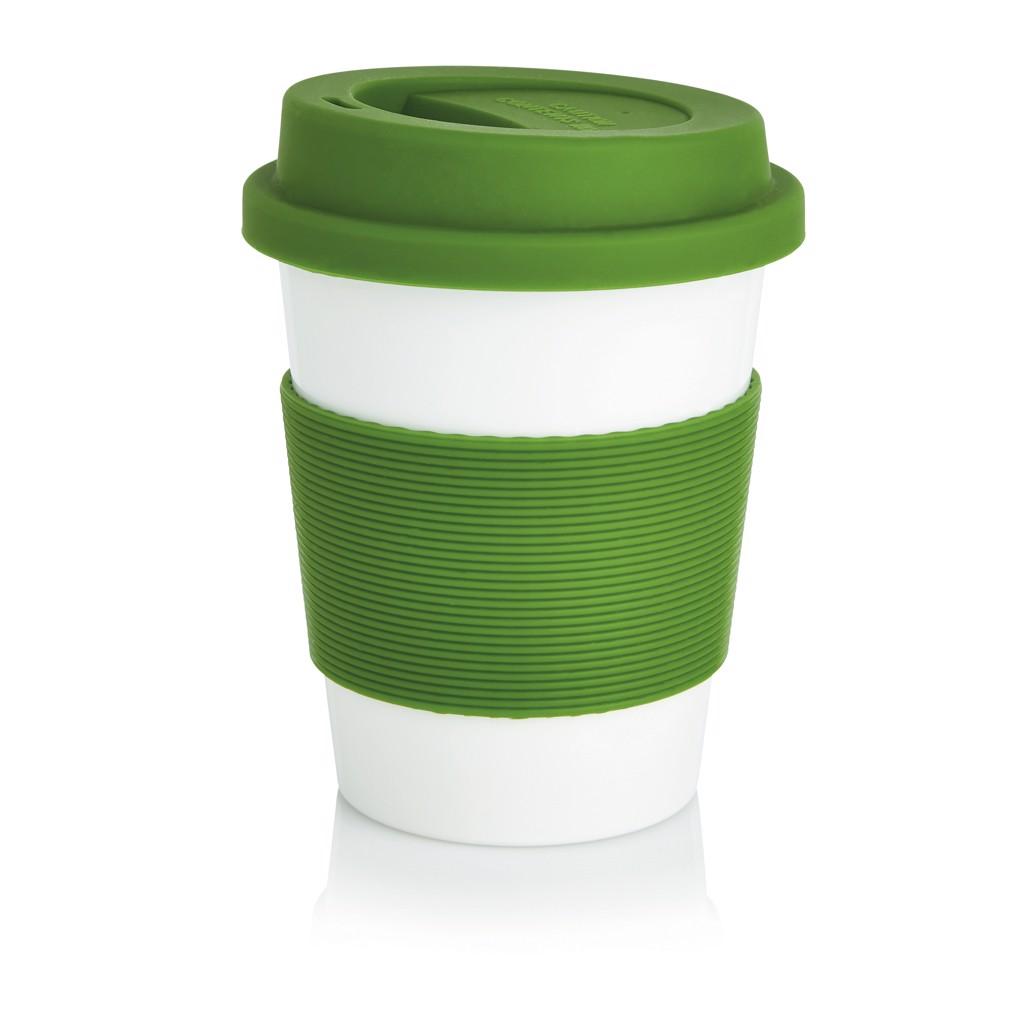 PLA kávésbögre - Zöld / Fehér