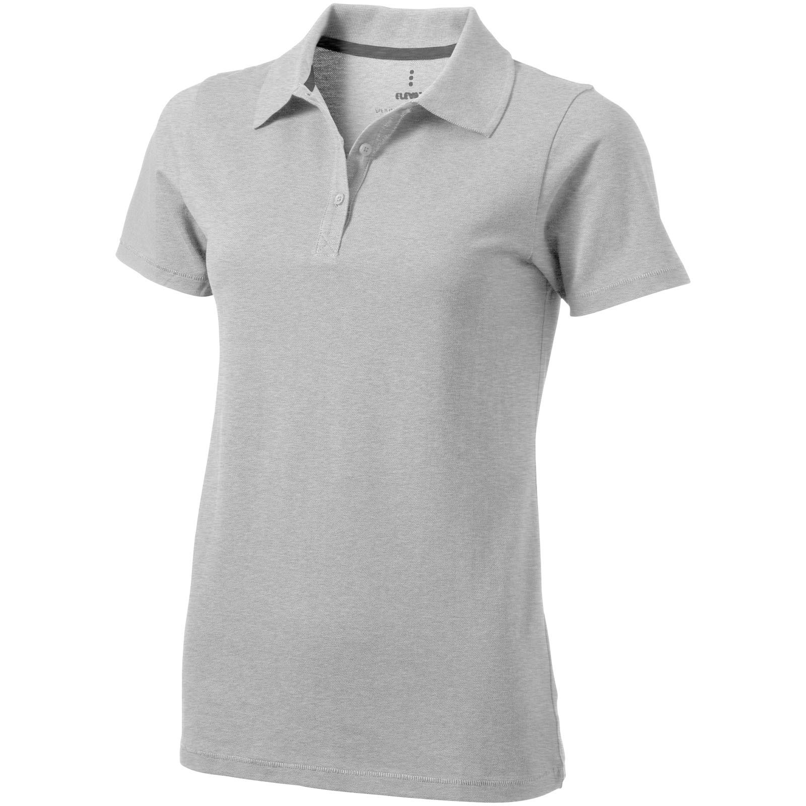 Seller short sleeve women's polo - Grey melange / XXL