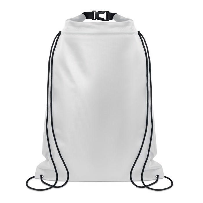 Wasserfester Kordelzugbeutel Debo Bag - transparent weiß