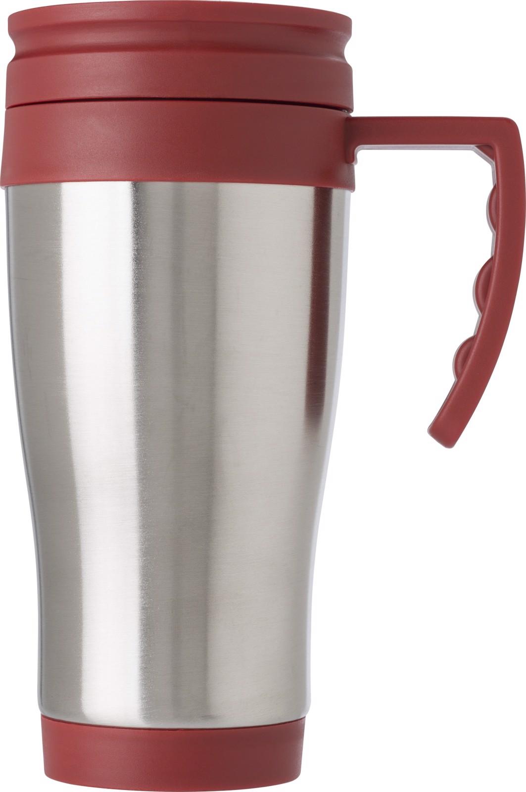 Stainless steel travel mug - Red