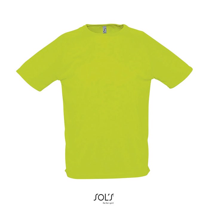 SPORTY MEN T-SHIRT 140g - Neon Green / XXL