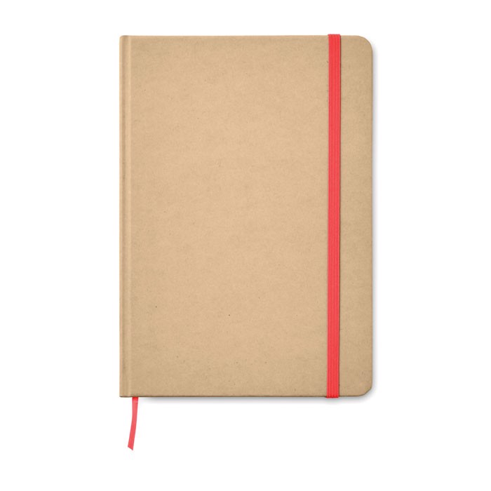 A5 Notebook recycled carton Everwrite - Red