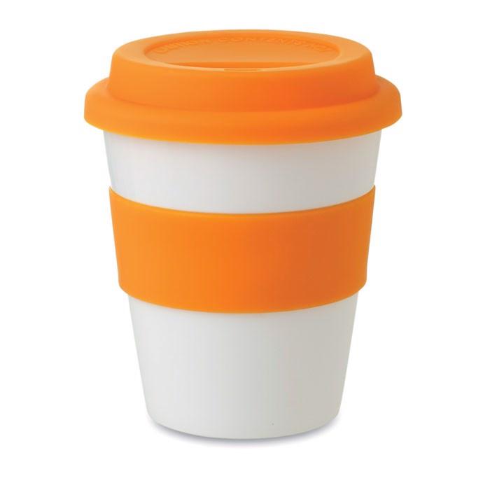 PP tumbler with silicone lid Astoria - Orange