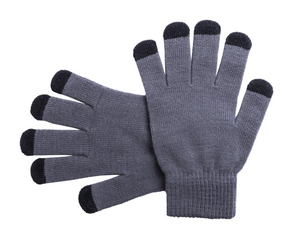 Touch Screen Gloves Tellar - Grey / Black