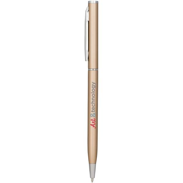 Hhliníkové kuličkové pero Slim - Šampaňská Béžová