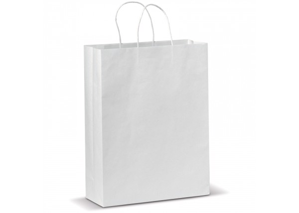 Kraft bag large - White