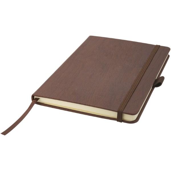 Zápisník s pevnou obálkou A5 v dřevěném dekoru - Hnědý