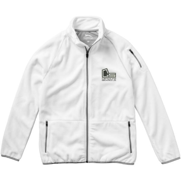 Drop shot full zip micro fleece jacket - White / S