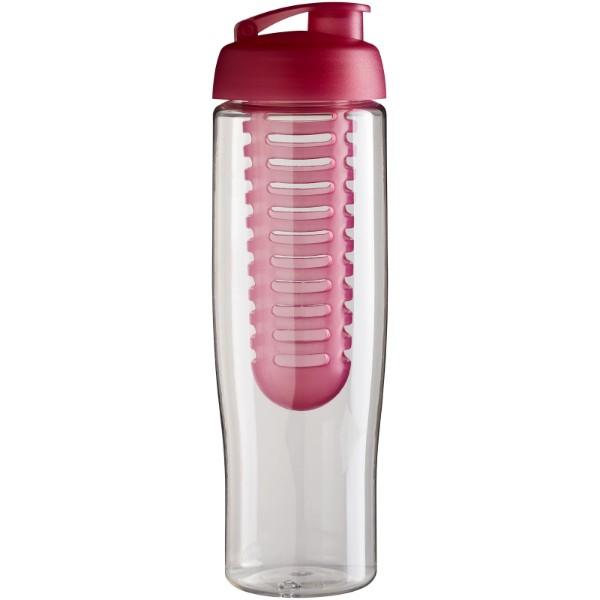 H2O Tempo® 700 ml flip lid sport bottle & infuser - Transparent / Pink
