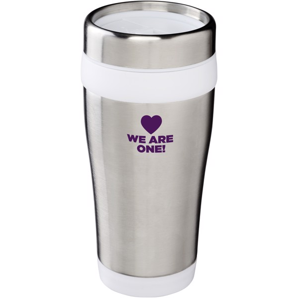 Elwood 410 ml insulated tumbler - Silver / White
