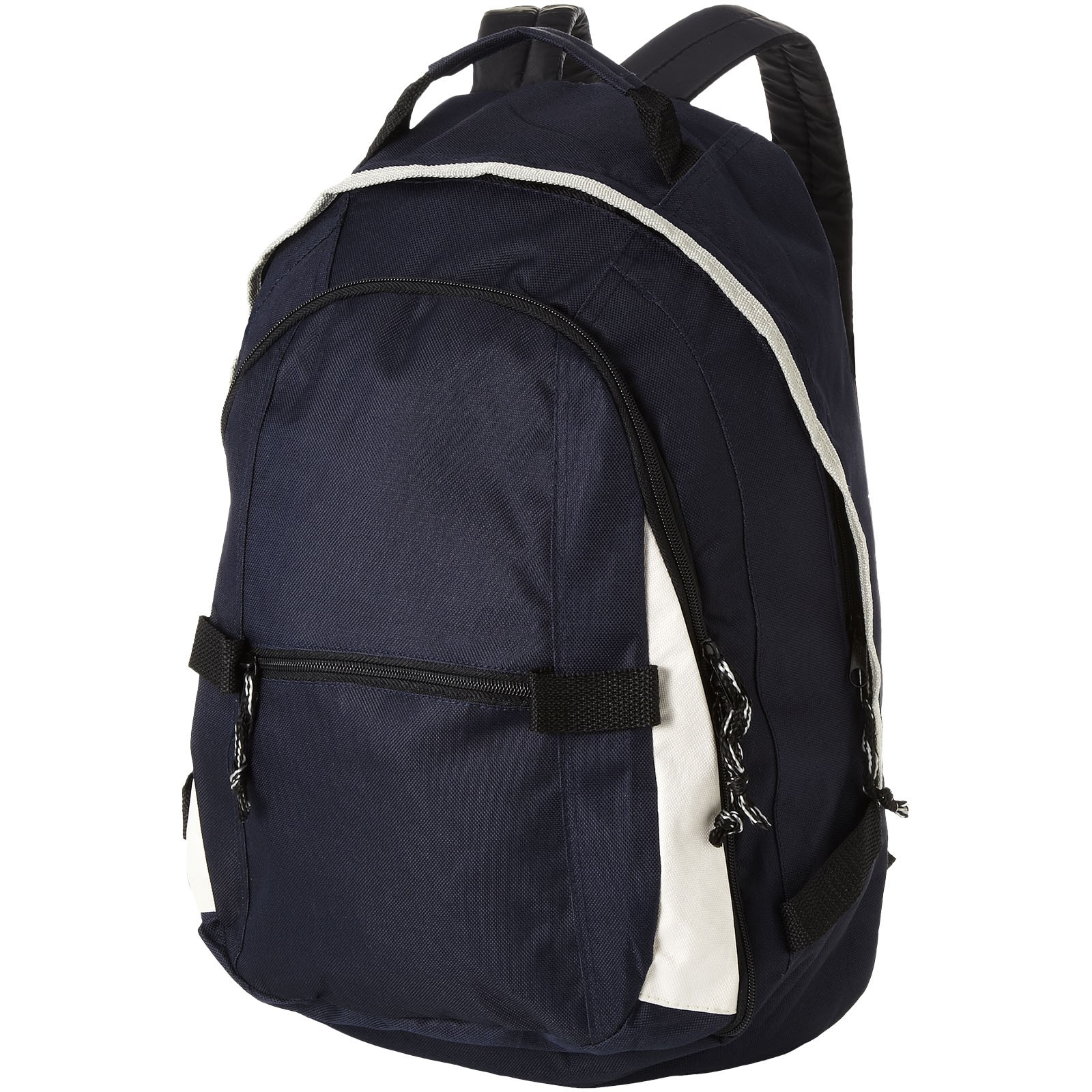 Colorado covered zipper backpack - Navy / White / Solid black