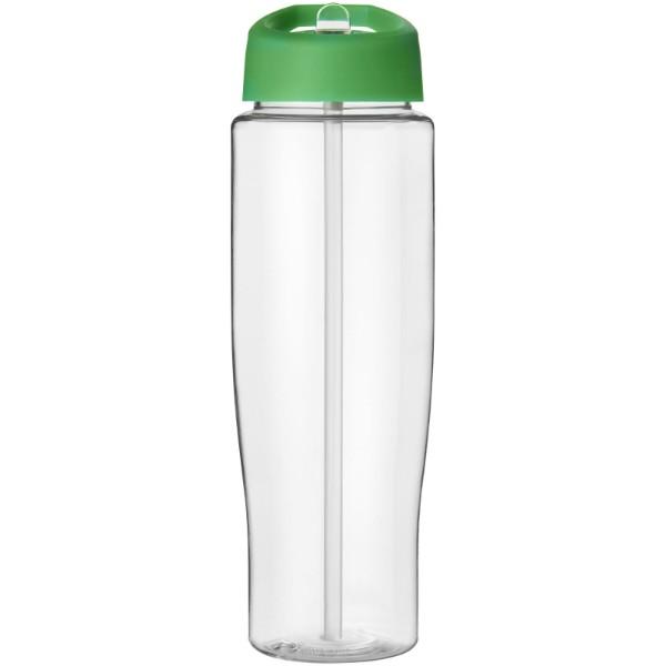H2O Tempo® Bidón deportivo con tapa con boquilla de 700 ml - Transparente / Verde