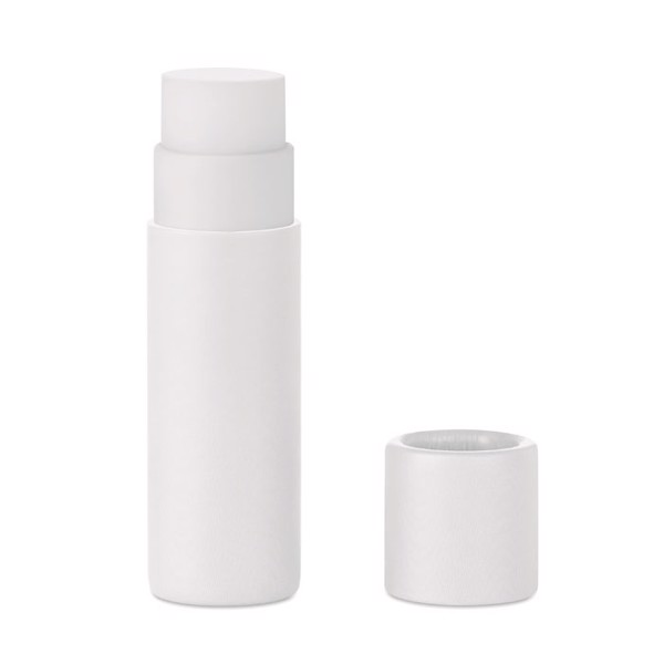 Carton finish lip balm Paper Gloss - White