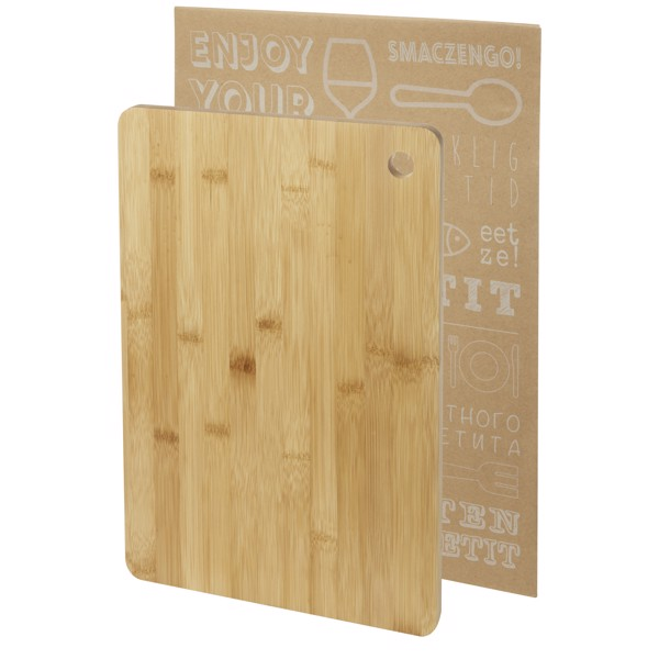 Harp bamboo cutting board