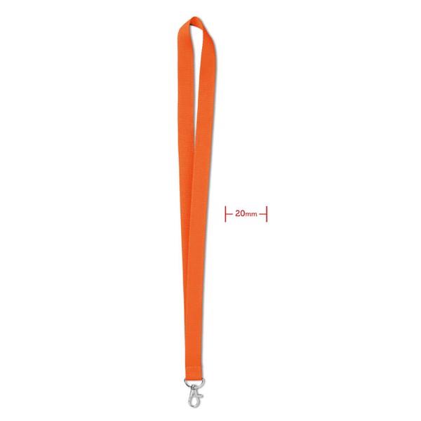 Lanyard 20 mm Simple Lany - Orange
