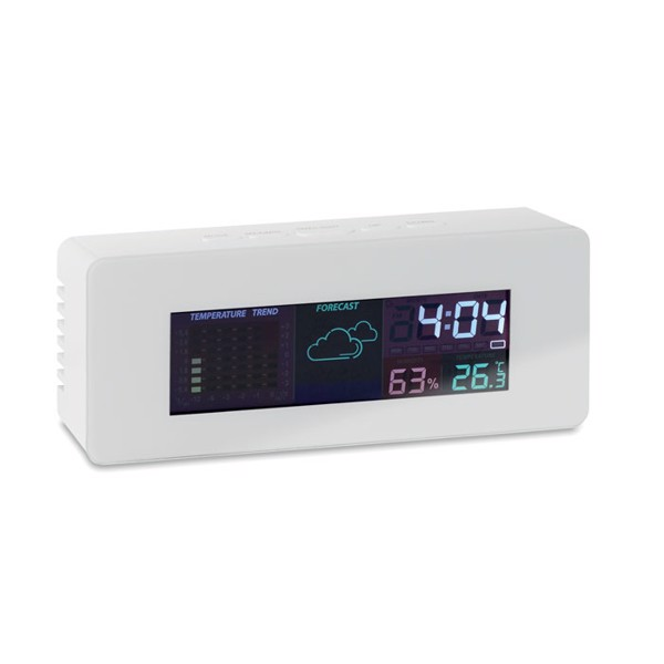 Indoor weather station clock Seoul - White