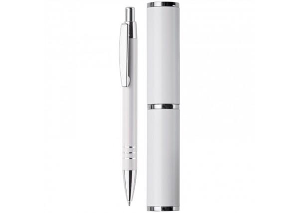 Aluminum ball pen in a tube - White