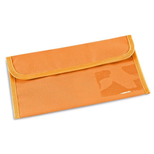 AIRLINE. Porta documentos de viaje - Naranja